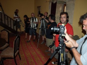trobada de fotògrafs al Castell de les Sitges