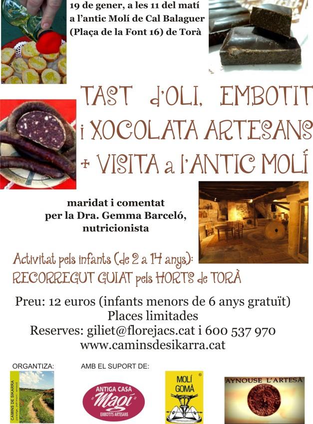 tast d'olis a Torà